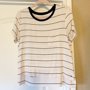Black and white striped tee - american eagle